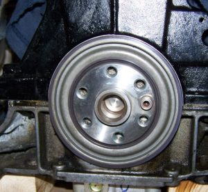 K series crank seal installed