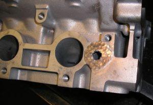 Head repair Peened weld